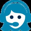 Telephone Answering - cyan Bubble logo